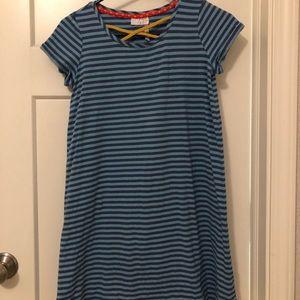 Matilda Jane blue striped, tunic dress.